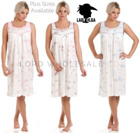 Lady Olga Sleeveless Nightdresses 0103