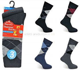 090 Men's Argyle Thermal Socks