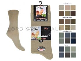 Mens 6 Pair Pack Cotton Lycra Socks
