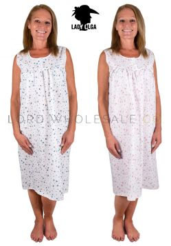 1085 Lady Olga Sleeveless Nightdress Wholesale