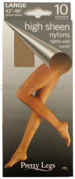 Pretty Legs 10 Denier High Sheen Nylon Tights