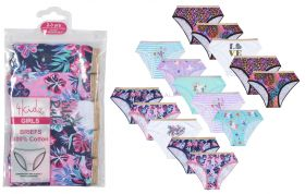 14c906 Younger Girls 5 Pack Briefs 12 Packs Of 5 Pairs