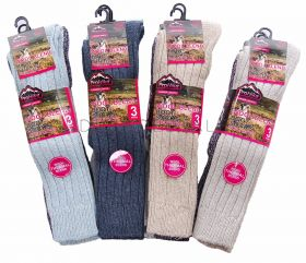 Ladies Long Thermal Wool Blend Boot Socks