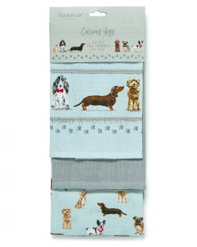 1747 Curious Dogs Tea Towels by Cooksmart