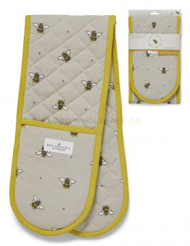 1756 Bumble Bees Double Oven Gloves by Cooksmart