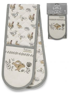 1788 Country Animals Double Oven Gloves