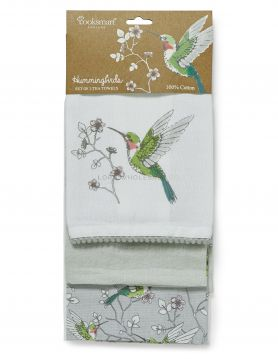 1825 Hummingbirds Tea Towels by Cooksmart