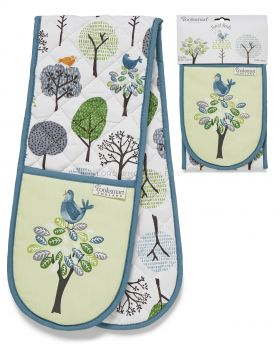 1846 Forest Birds Double Oven Gloves by Cooksmart