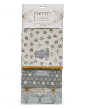 1857 Purity Tea Towels by Cooksmart