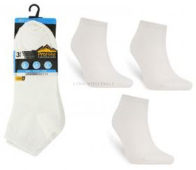 Men's White Cotton Rich Trainer Socks 3 Pair Pack 6-11 by Pro Hike