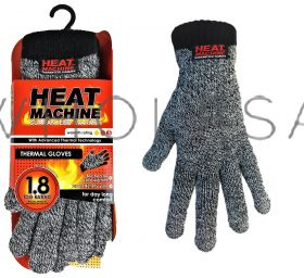 2142 Thermal Melange Gloves by Heat Machine