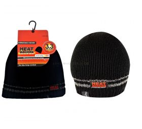 2177 Black Beanie Hats by Heat Machine