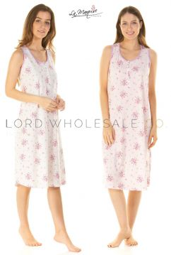 Summer BouquetSleeveless Nightdress By La Marquise 8 Pieces
