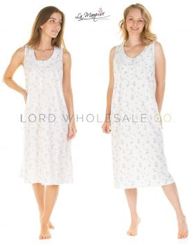 Everyday Floral Dots Sleeveless Nightdress By La Marquise 8 Pieces