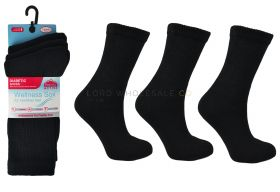 2645 Ladies Diabetic Sports Socks Black