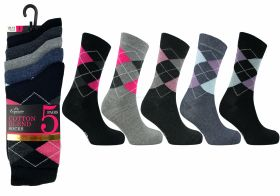 2719 5 pair Argyle Socks