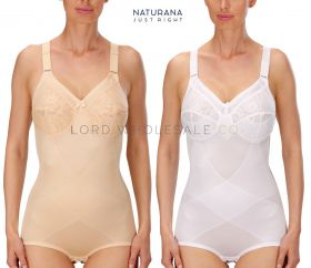 Ladies Firm Support Soft Lace Cup Corselette by Naturana 3033