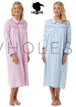 3035 Lady Olga Brushed Cotton Nightdresses