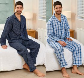 Men's Harlow Checked Poly Cotton Pyjamas by Champion