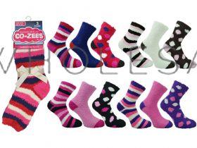 3270-3-D Co-zees 3 pack Cosy Socks
