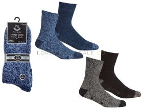 Men's 2 pair pack Cosy Socks With Grippers by Pierre Roche 12 x 2 pair packs