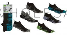 40B550 Men's Marl Cushion Heel & Toe Trainer Socks