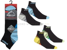Mens Compression Trainer Socks 2 Pair Pack by Pro Tonic 12 pairs