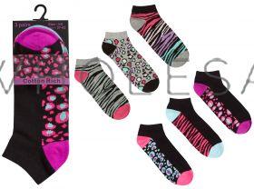 41B588 Ladies Animal Trainer Socks