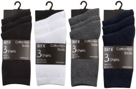 Childrens Socks 3 Pair Pack Lycra Perfect for School