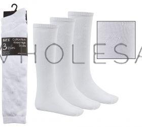 43B391-4 Heart Textured Knee High Socks