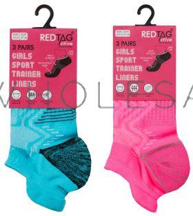 43B702 Girls Trainer Socks
