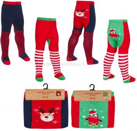 45B120 Baby Festive Christmas Tights