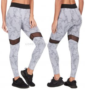 52A171 Grey Marble Effect Leggings