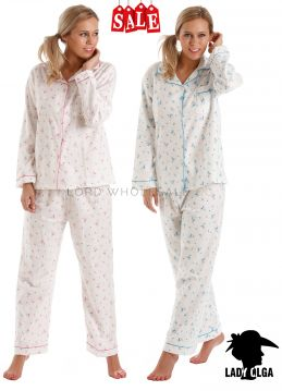 Clearance Lady Olga 100% Brushed Cotton Pyjamas