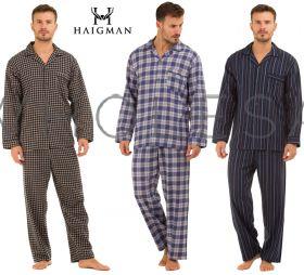 100% Cotton Brushed Mens Pyjamas by Haigman