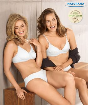 Ladies Organic Cotton Underwired Bras by Naturana 7586