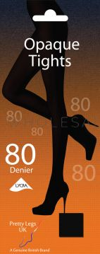 Ladies 80 Denier Soft Opaque Tights by Pretty Legs 6 pairs
