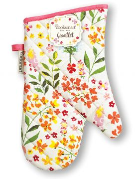 SG9641 Bee Happy Gauntlet Oven Gloves