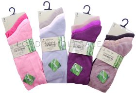 Ladies Bamboo Socks Extra Fine 4-7