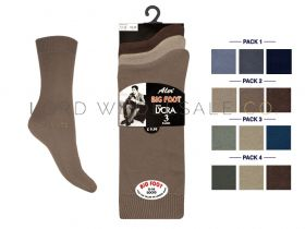 Mens Big Foot 11-14 3 Pair Pack Cotton Lycra Socks
