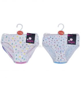 BR223A Girls 3 Pair Pack Briefs