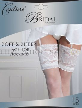 Bridal Soft & Sheer Lace Top Stockings by Couture