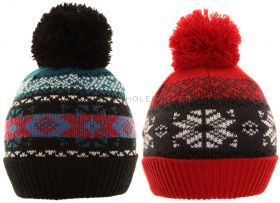 C522 Boys Fairisle Knitted Hats