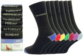 Mens 7 Pair Pack Days of the Week Socks 4 packs of 7 pairs