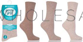 DIABETIC Ladies Naturals Gentle Grip Socks by Sock Shop