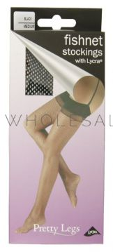 Pretty Legs Fishnet Stocking Plain Top With Lycra