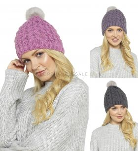 GL554A Chunky Cable Hats by Foxbury