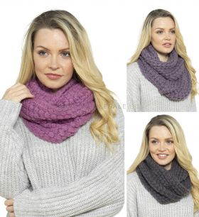 GL555A Chunky Cable Snoods by Foxbury