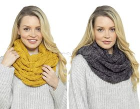 GL576A Cable Knitted Soft Snoods