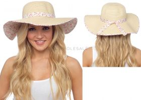 GL732 Summer Hats With Floral Trim